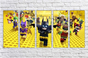 Quadro Decorativo Desenho Batman Lego Infantil Gg Decorar