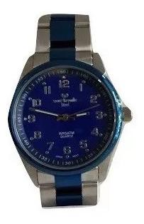 Reloj Vox Tronic Acero Pavonado Sumergible Wr50m Gtia