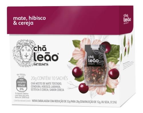 Chá Leão Senses - Mate, Hibisco E Cereja 10 Saches