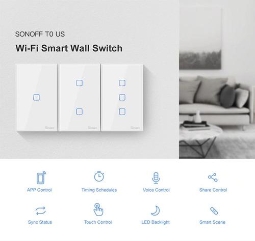 Interruptor Inteligente Wifi Son/off Doble T0us2c