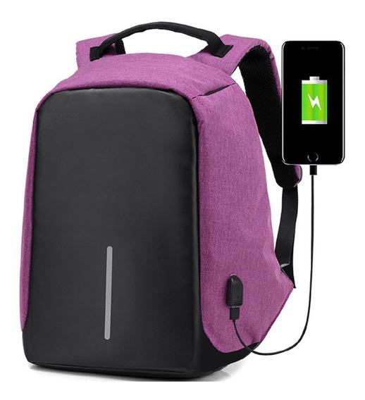 Mochila Backpack Antirrobo Usb Laptop Impermeable Antirobo