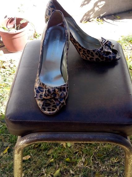 Zapatos Batistella Animal Print Boca De Pescado