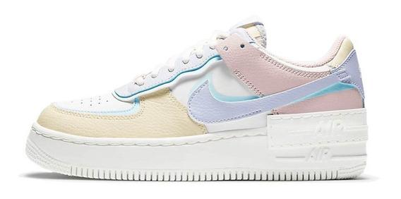 Tenis Nike Air Force 1 Shadow Feminino Multicolorido Pastel