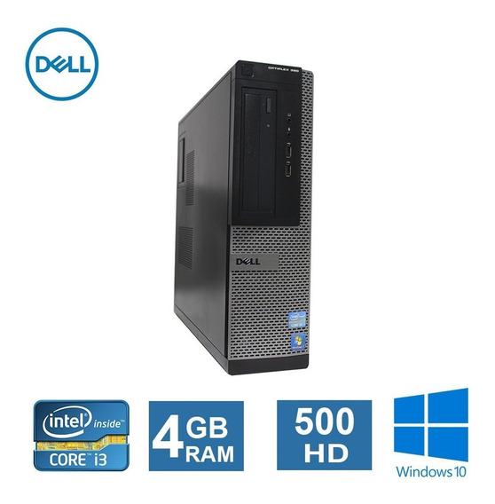 Desktop Dell Optiplex 390 I3 4gb Hd500gb + Wi-fi
