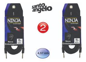 2 Cabos Guitarra Santo Angelo Ninja 15ft P10 X P10 4.57 Mts