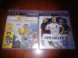 Lote 2 Juegos Ps3 Fifa 12 Best Of Playstation Network