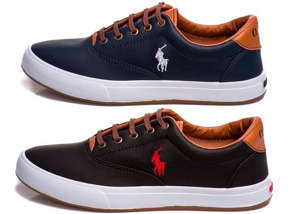 Kit 2 Pares - Tenis Masculino Sapato Sapatenis Polo Wey Confortável