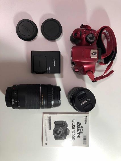 Canon Rebel T5 Eos 1200d + 2 Lentes Macros