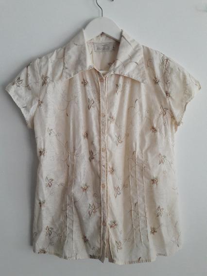 Camisa Floreada Sail Basics 100% Algodon Talle L 44