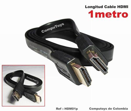 Imagen 1 de 8 de Zhdm01p Cable 1 Mt Flexible Corto Hdmi Qhdm01pq Compu-toys