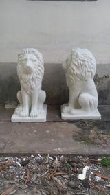 Par De Leoes Grande Em Fibra De Vidro!escultura