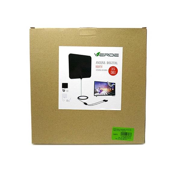 Antena Amplificada Interna Hdtv Digital 35dbi C/ Cabo 3m (tx