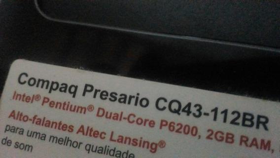 Notebook Hp Compaq Presario Cq43-112br