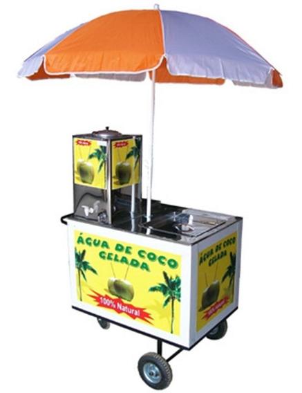 Carro Para Água De Coco Incluso Guarda Sol Lisboa Ml Acg