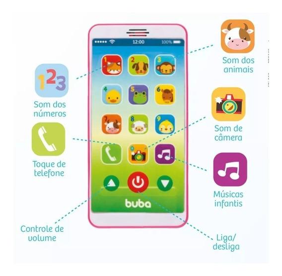 Celular Infantil Baby Phone - Rosa - Buba + Envio Rápido