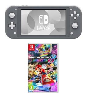Nintendo Switch Lite 32gb Gris + Mario Kart 8 Deluxe + Envio