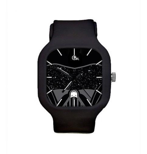 Relógio Darth Vader Star Wars Pulseira Silicon A Prova Dagua