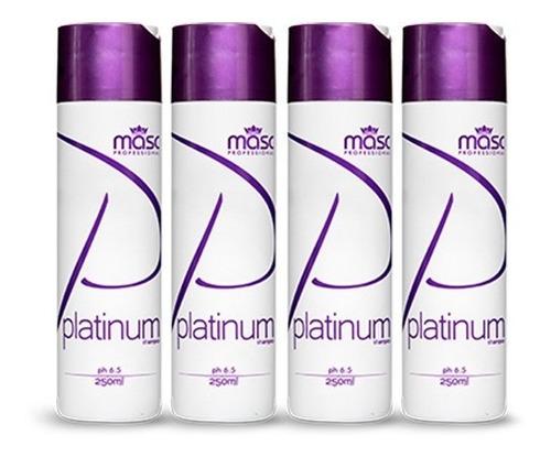 Imagem 1 de 1 de Kit 04un Shampoo Matizador Violeta Platinum 250g
