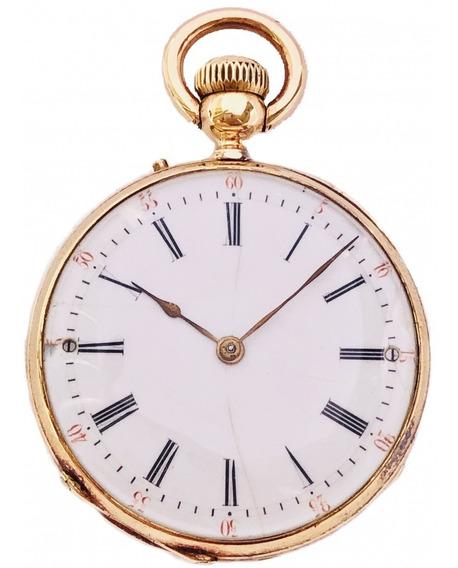 Relógio De Bolso Francês Philip Fres Ouro 18k Lapela À Corda