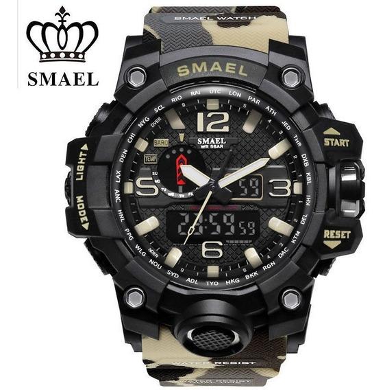 Relógio Smael 1545 / S-shock Camuflado A Prova D`água