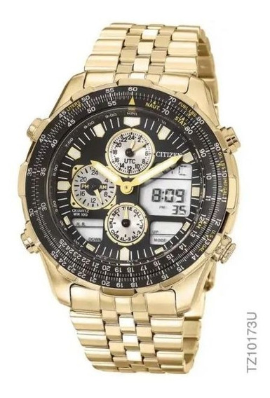 Relógio Citizen Tz10173u Navihawk Masculino Dourado