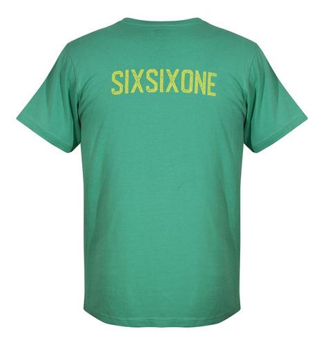 Camiseta Color Verde Talla L. Marca Sixsixone