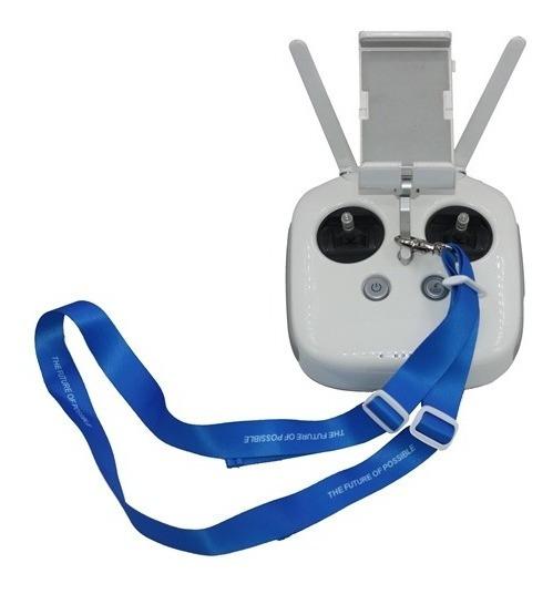 Correia Pescoço Dji Azul Rádio Controle Phantom Reforçada