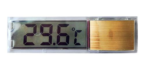 Imagen 1 de 6 de Acuario Termómetro Medidores Lcd3dcrystal Medición Digital
