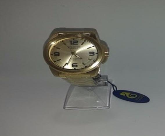 Relógio Pulso Atlantis Dourado Unisex P.entrega