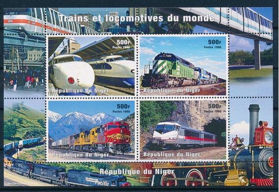 Nigeria 1998 Trenes Del Mundo Serie Completa En Hb Mint (2)