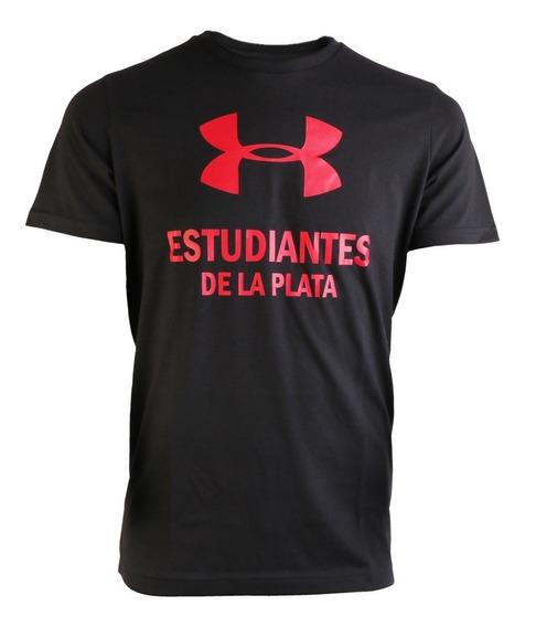 Remera Under Armour Estudiantes De La Plata Big Logo Negra