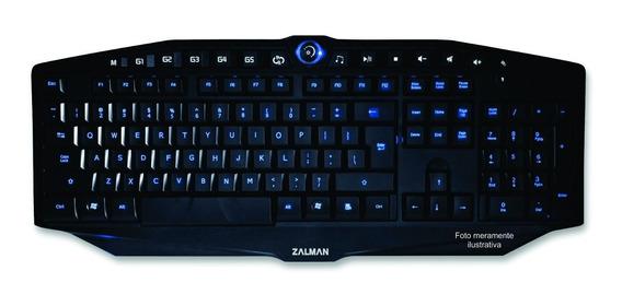 Teclado Gaming Zalman Zm-k400g Iluminação 2 Cores Red/blue