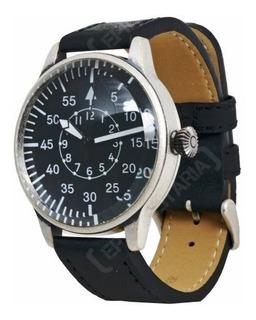 Reloj Piloto Miltec Vintage Style Ww2 Con Correa De Cuero Ne