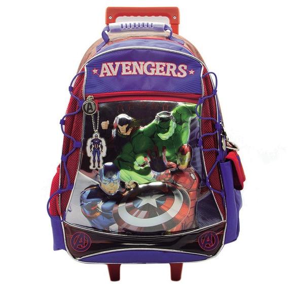 Mochila Avengers Vengadores 18 Con Carro Sp284 Mapleweb