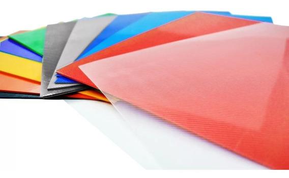 Tapas Encuadernar Anillado Espiralado A-4 Cristal Color X 50
