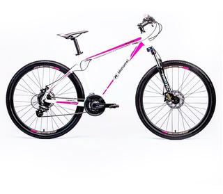 Bicicleta Motomel R27.5 Mtb Maxam 375 Aluminio 24v F-d Ts Bl