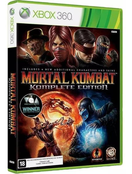 Jogo Mortal Kombat Komplet Edition Xbox 360 Física Original