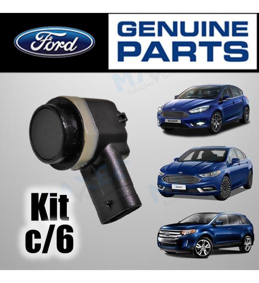 6 Un. Sensor Estacionamento Ford Edge Fusion Focus 2013/2020