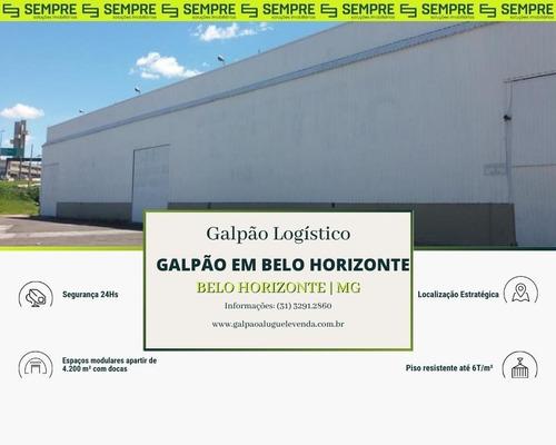 Imagem 1 de 22 de Galpão Para Alugar Em Belo Horizonte/mg - Ga0011