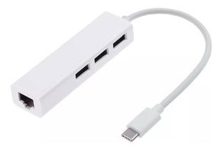 Adaptador Usb C A Hub Usb 2.0 + Ethernet