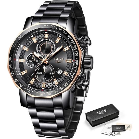 Relógio Lige Masculino Luxo Modelo 9902