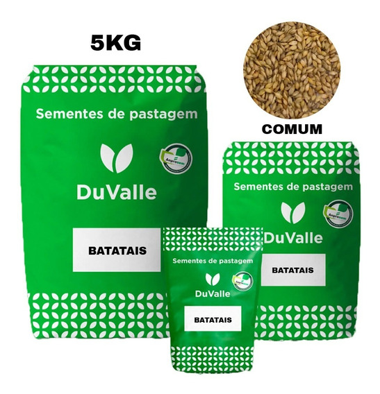 Grama Batatais 5kg Sementes Paisagismo Campos De Futebol