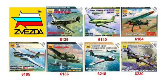 Aviones Zvezda P/armar 4 Modelos A Eleccion. Art Of Tactic
