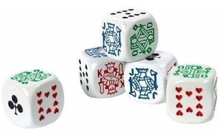 Set Juego De Mesa Dados De Poker Importados Cubilete Yahtzee