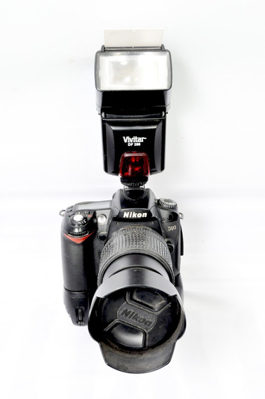 Camera Fotografica Nikon D90 +grip+lente 18x135 +flashe