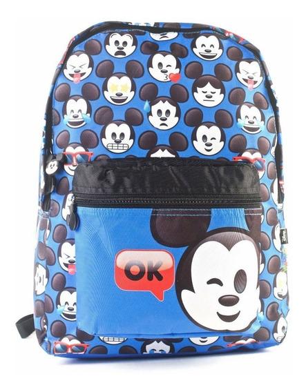 Mochila Mickey Mouse Emoji 17 Espalda Original Wabro!
