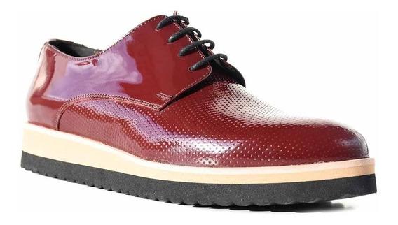 Zapatos Mujer Cuero Abotinado Briganti Chatita Mccha2974