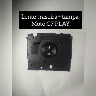 Lente Traseira + Tampa Do Moto G7 Play