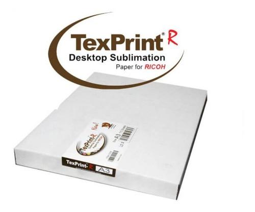 Imagen 1 de 1 de Papel Para Sublimacion Texprint R 110 Hojas Doble Carta