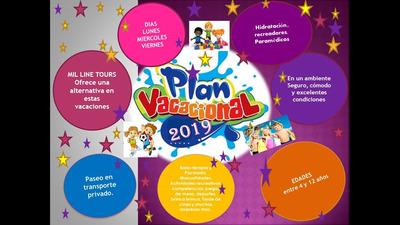 Plan Vacacional 2019 Para Niños Y Adolescentes De 4 A12 Años